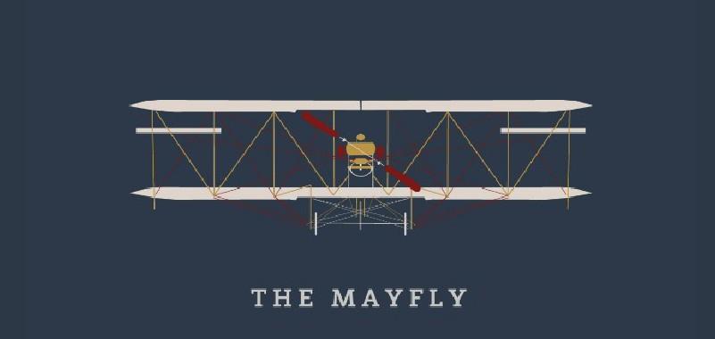 Marston's Heritage Pub sign design the mayfly