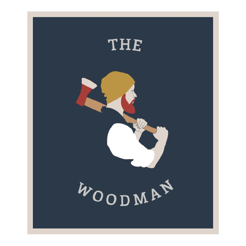 Marston's Heritage Pub sign design woodman