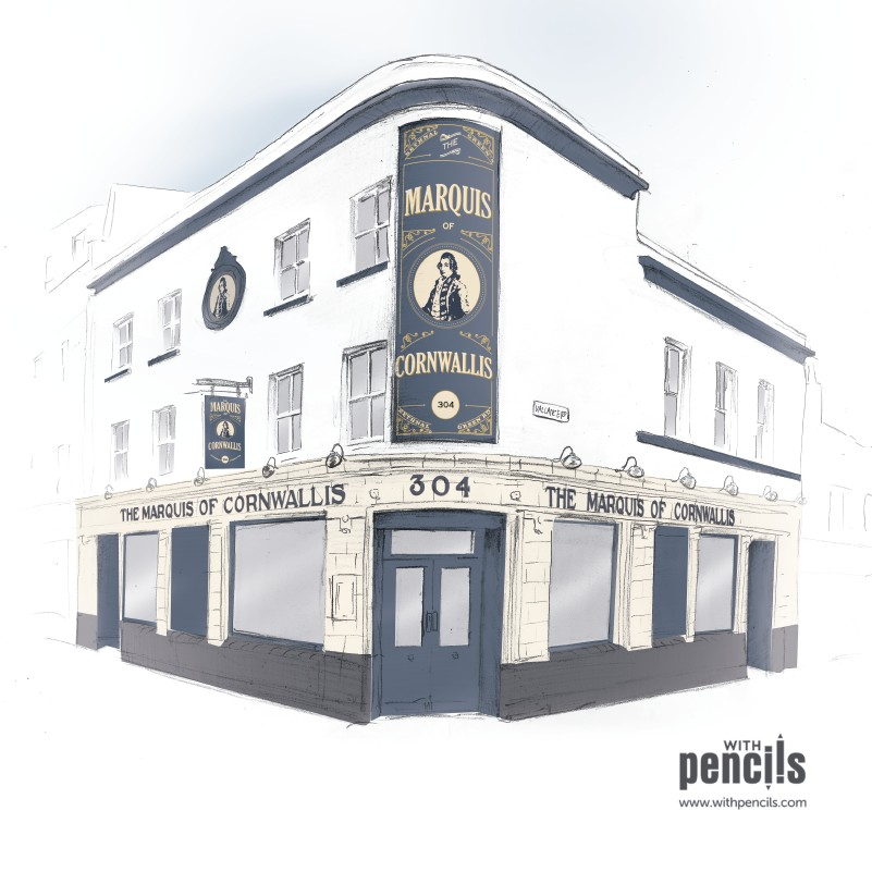 Architectural Visualisations Pub signage
